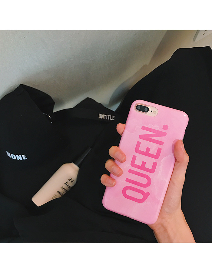 Marble Boss Queen Couples Phone Case Soft IMD TPU Back Glossy Cover For iPhoneX 8 6s 7plus Skinny Shell Casing Body Protection