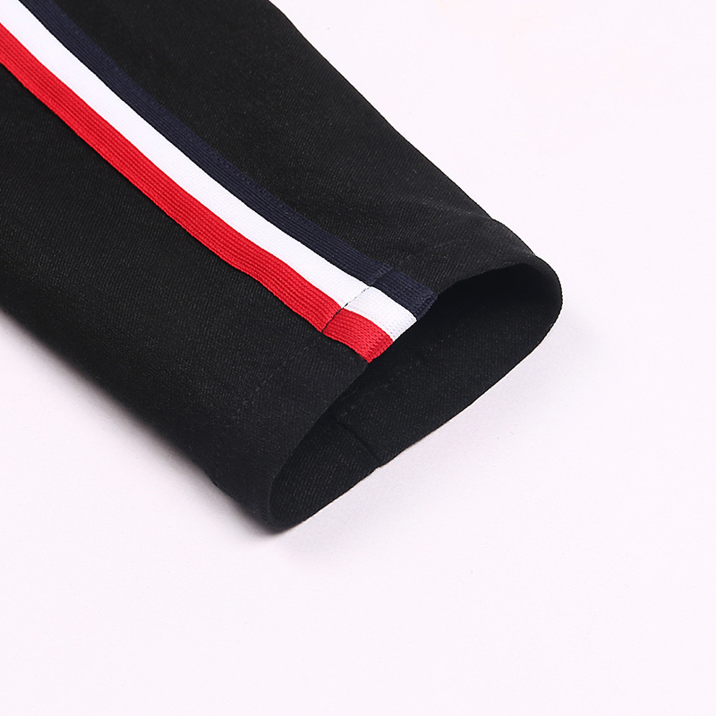 HTB1Fhl1dxOMSKJjSZFlq6xqQFXar - FREE SHIPPING High Waist Knit Red Striped Sideseam Sweatpants JKP257