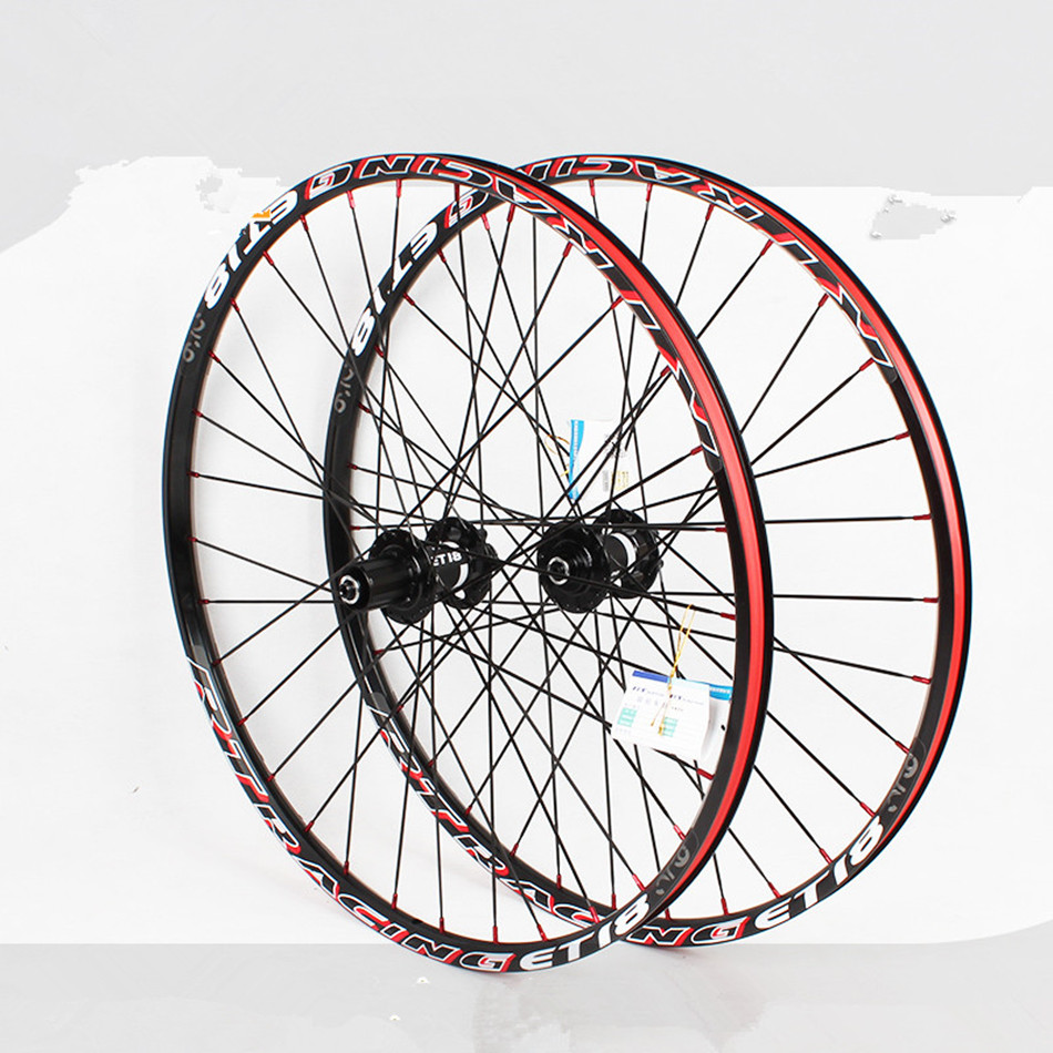 2017 <font><b>RT</b></font> New Bike Bicycle 120 Sound Thru Axis Sealed Bearing Flat Spokes Wheels <font><b>Wheelset</b></font> With Adapter Rim Rims image