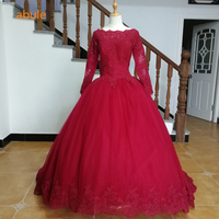 abule Quinceanera Dresses 2018 srtapless lace up Red wine ball gown prom dress Debutante Gown 15 Years Layer Tulle Custom sizes