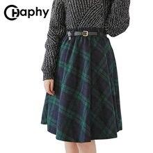 57e0dd6f4 Women Plaid Woolen Long Skirt - Compra lotes baratos de Women Plaid ...