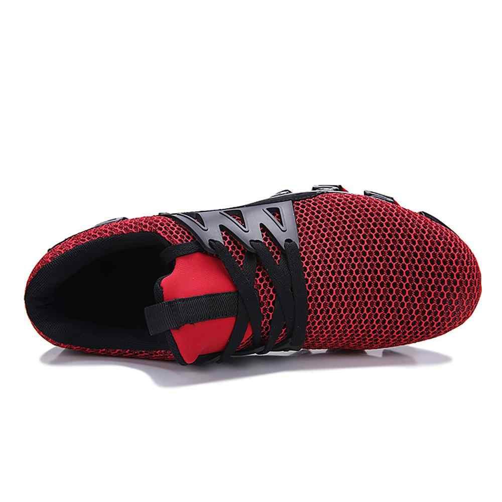 男性靴 2019 ランニングホット販売ブラック男性メッシュエアスポーツの靴屋外トレーニングスニーカー通気性アップ靴