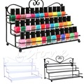 Nail Polish Organizer Table Top 3 Tier Display Rack Storage Design Holder Metal Brackets