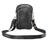 Shoulder Holster Belt Clip Genuine Leather Mobile Phone Case Dual Pouch For Oukitel U7 Max K6000