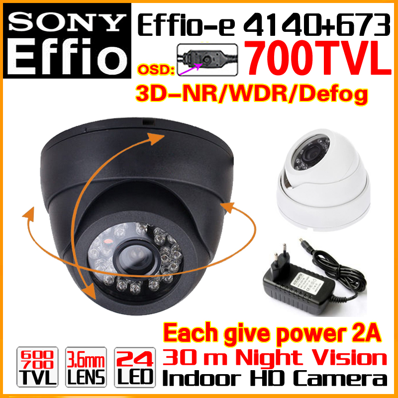 low illumination 1 3 sony ccd 700tvl with 3 6mm hd lens and audio function and osd function Low Price 1/3Sony Sensor CCD Effio Indoor Dome Color Image Home Video OSD Security Surveillance Hd Cctv Camera 11.11 Big Sale!