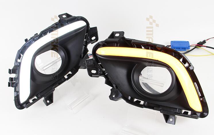 OsMrk для Мазда 6 АТЕНЗА М6 2013-14 СИД DRL дневного света с диммер и поворота Функция осветительного хорошее качество быстрая доставка