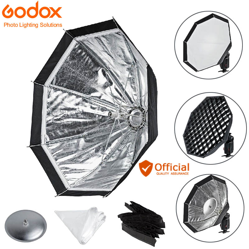 Godox AD-S7 boîte souple multifonctionnelle octogonale nid d'abeille grille parapluie Softbox pour Godox WITSTRO Flash AD180 AD360 AD360II