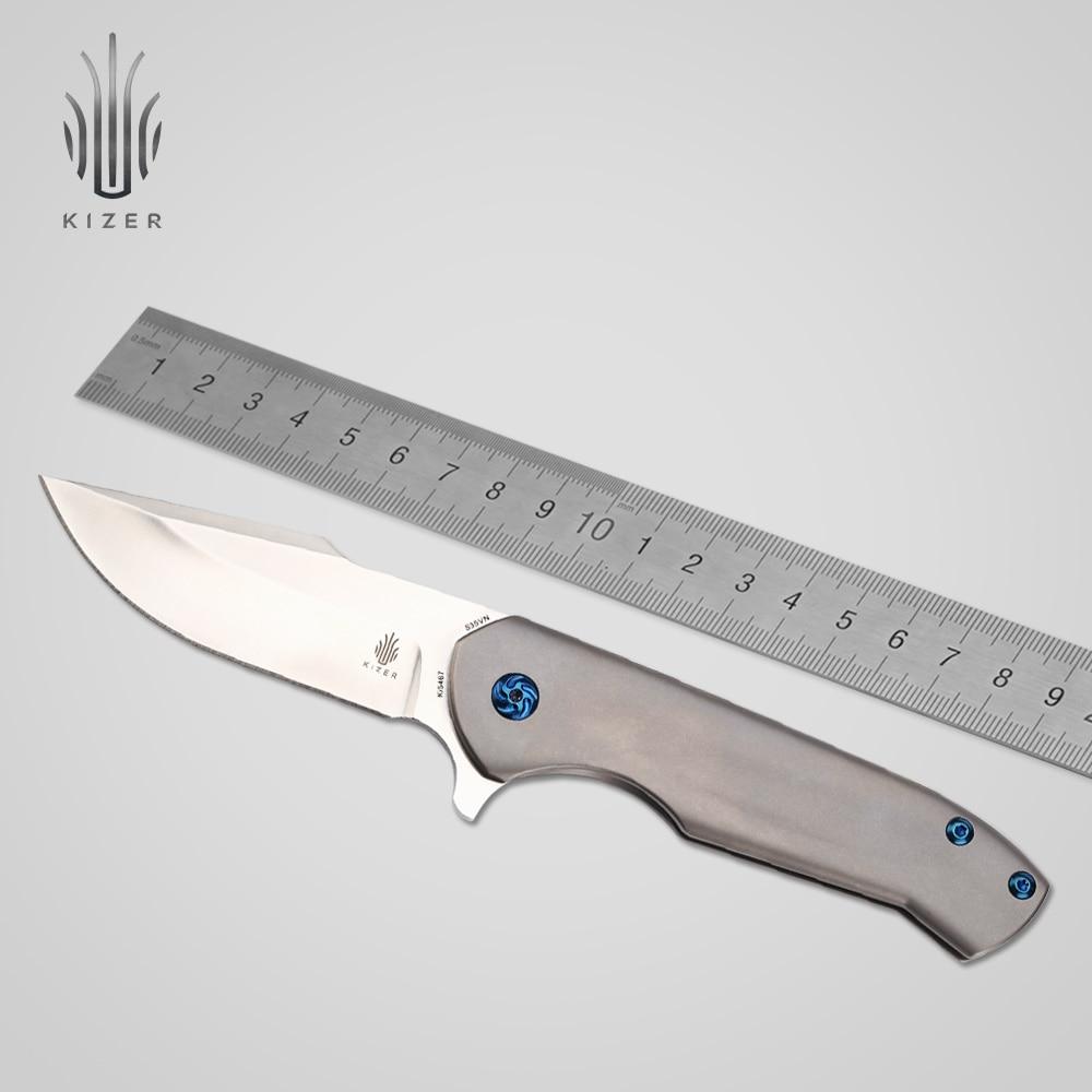 Kizer outdoor essenziale coltello Ki5467 vestito per grande mano di alta durezza di caccia coltelli Cespuglio artigianato di sopravvivenza attrezzo manuale di alta qualità