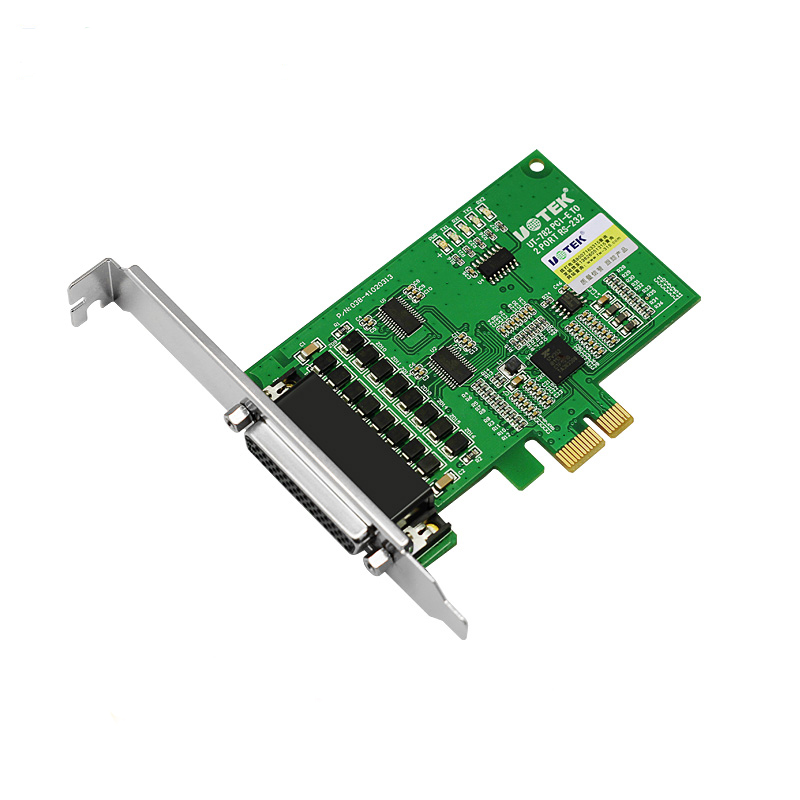 UT-782 2-Port Industrial RS-232 PCI-E Multi-Serial Port Card 600W lightning surge 15KV ESD protection each line 2 port rs232 rs 232 serial port com to pci e pci express card adapter converter ax99100 chipset