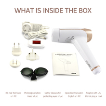 2 in 1 Lescolton Laser IPL Epilator & Electronic Face Massager Hair Removal LCD Display Machine