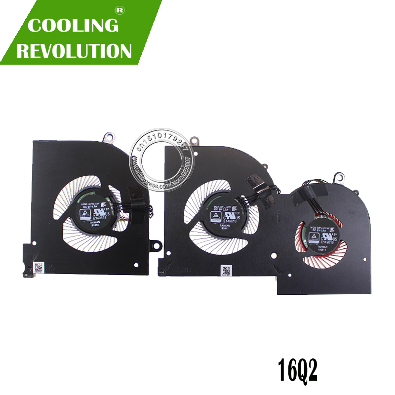 New Original Cooling Fan For MSI GS65 MS-16Q2 16Q2-CPU-CW 16Q2-GPU-CW DC5V 0.5A