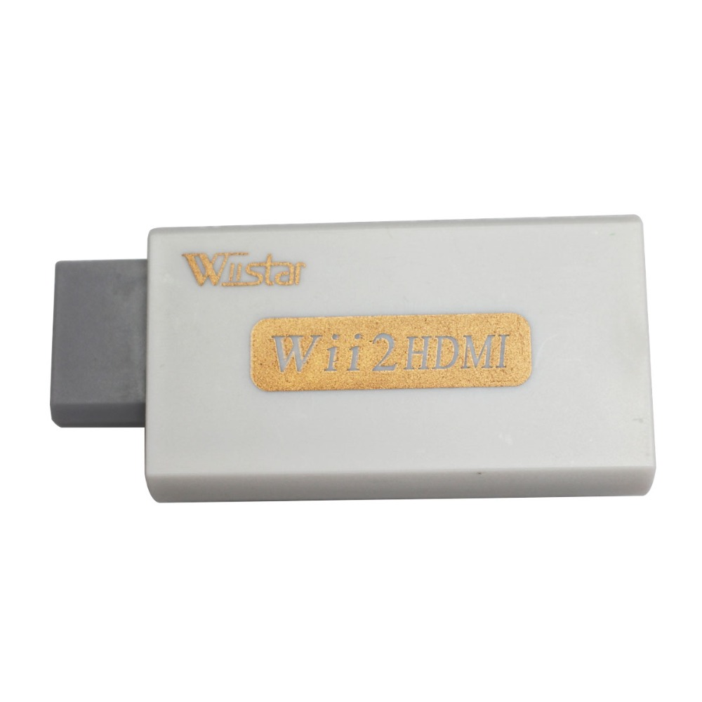 Wiistar Wii to HDMI Wii2HDMI Adapter Converter Full HD 1080P Output Upscaling 3 5mm Audio Video Output White Hot Sale in Replacement Parts Accessories from Consumer Electronics