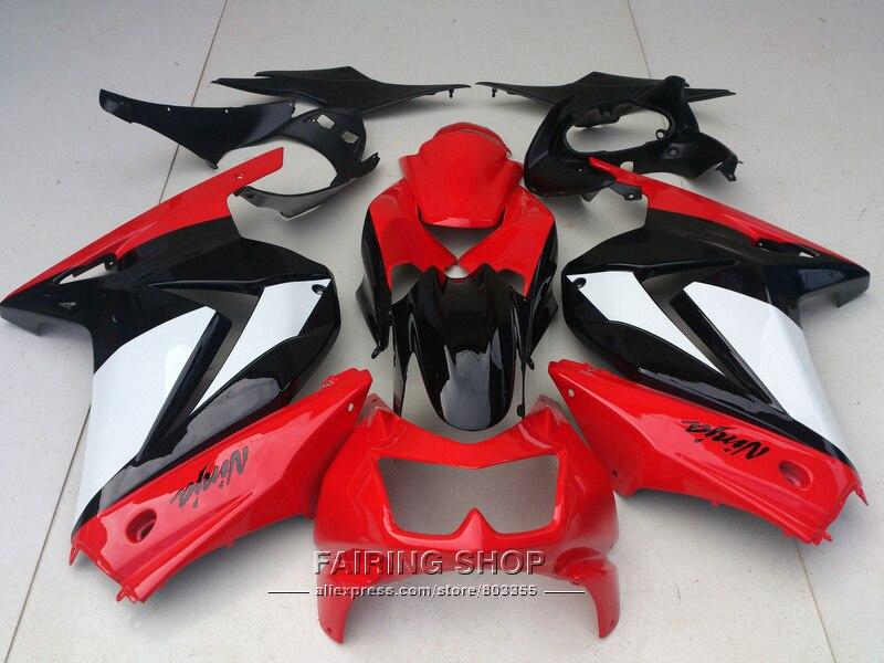 Injection molding plastic fairing kit For Kawasaki ninja 250r 08 09 10-14 2008-2014 red white black EX250 fairings set PO05 vazhnyj kommentarij igorya ivanovicha strelkova 05 08 2014