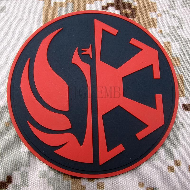 Red the jedi order insignia old republic logo 3d pvc patch pb1469 in patches from home garden - Republic star wars logo ...