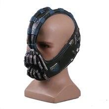 Movie Batman The Dark Knight Rises 3/4 Bane Cosplay Mask Latex Helmets Halloween Theme Party Prop Mask