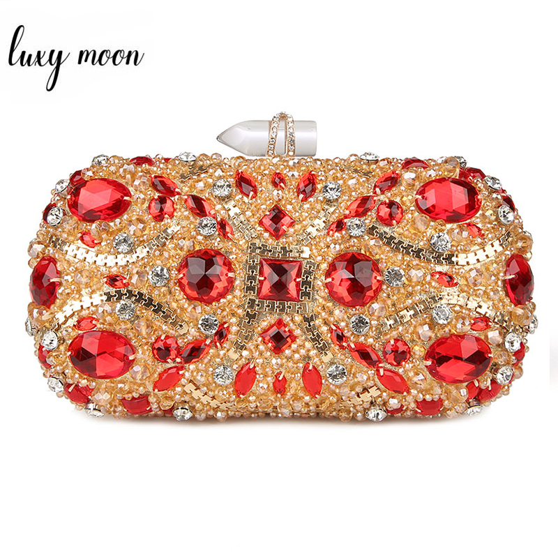 d5fe28e74ac 100% Handmade Socialite Evening Bags Luxury Diamond Ladies Clutch Bag Black Red  Silver Women Purse special Party Clutch-in Top-Handle Bags from Luggage ...