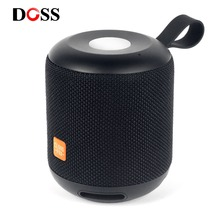 DOSS Cloud Fox Bluetooth Speaker TWS Wireless Portable mini speakers 2*6W Waterproof IPX5 LED Light Speakers Soundbox Touch
