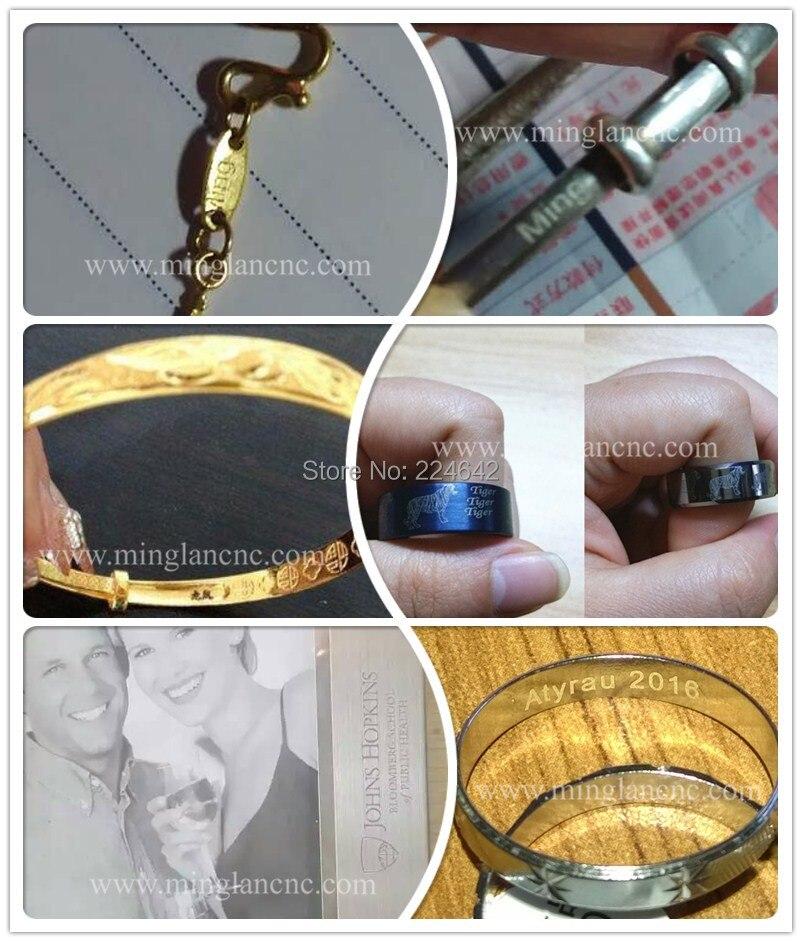 Jewelry samples of fiber marking machine