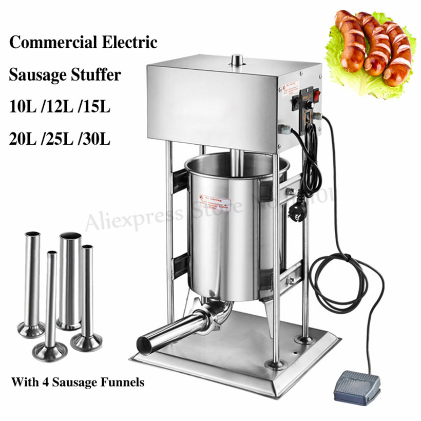 Eletric Sausage Maker 12L Churro Making Machine Sausage Meat Extruder Salami Filler Spain Churros Maker Restaurants