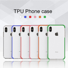 Tfshining Anti-knock Shockproof Case For iphone X XR XS Max 6 6s 7 8 Plus Transparent Soft Silicone Protective Back Cover