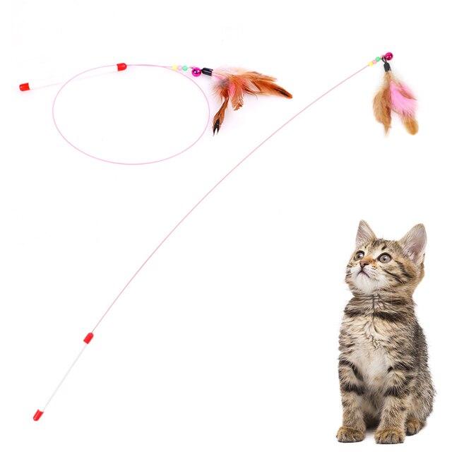 Pluma campana herramientas de formación de gato para gato suministros de capacitación gracioso gato mascota Pet gatitos interactivo interesante juguetes palos de productos para mascotas