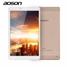 De alta Velocidad de 10.1 Pulgadas Quad Core Tablet PC Aoson R103 Android 6.0 de la Tableta de 2 GB 32 GB MTK8163 1280*800 Wifi de la Tableta de Caja De Metal de Oro