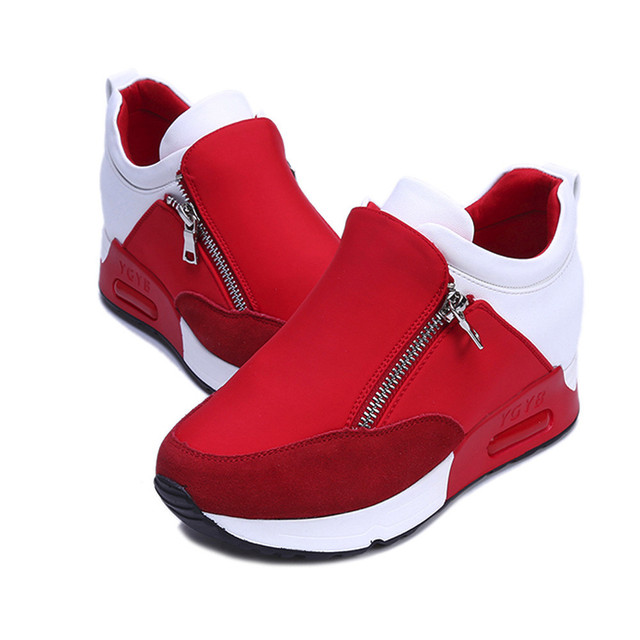 13a48db5227 Women Fashion Sneakers Thick Bottom Platform Shoes 2018 On Casual Shoes for  Woman chaussures femme bayan