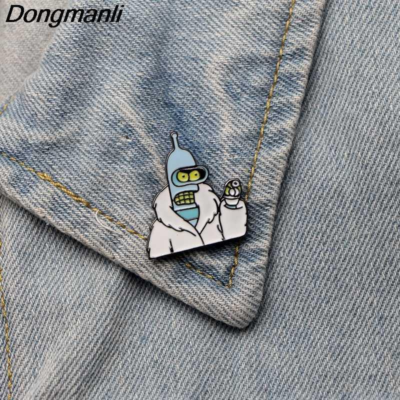 3 Gaya Dmlsky Futurama Bros Ransel Lencana Pakaian Enamel Pin Topi Pin Pesona Hadiah Fashion Aceessory M2323