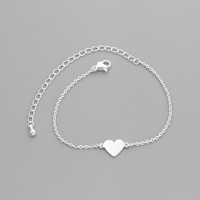 2019 Personality Bracelet Golden Heart Bracelet Gold Chain Racelets Women Boho Jewelry Stainless Steel Bracciali Donna B Birthda in Chain Link Bracelets from Jewelry Accessories
