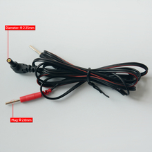 Electrode cables 2-pin DC head 2.35mm TENS unit electrode lead wire plug 2.0mm use for machines