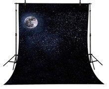 Estrelas Da Lua cheia Noite Céu fundo do estúdio da fotografia Vinil cenários de pano de Alta qualidade Computador impresso das crianças das crianças