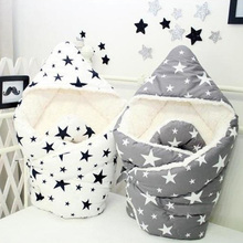 Newborn Infant Wrap Bedding Quilt Bed Sofa Stroller Basket Autumn Winter Baby Cotton Blanket
