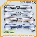 2386 High Quality half rim rectangle Ultem for men metal optical eyeglasses frame prescription myopia spectacles
