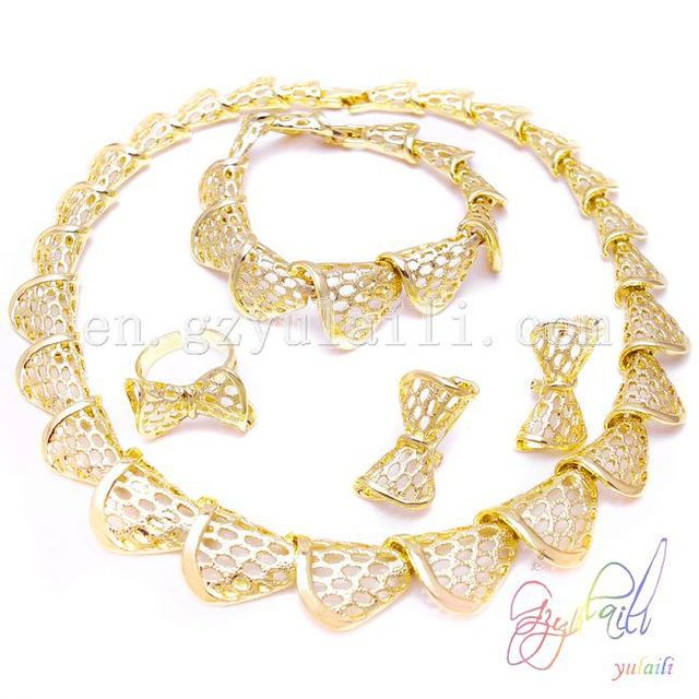 SHIPPING FREE dubai gold jewelry set wedding jewellery designs big