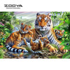 NEW 3D DIY Diamond Painting Cross Stitch Forest Tiger Family Crystal Needlework Diamond Embroidery Animal Home