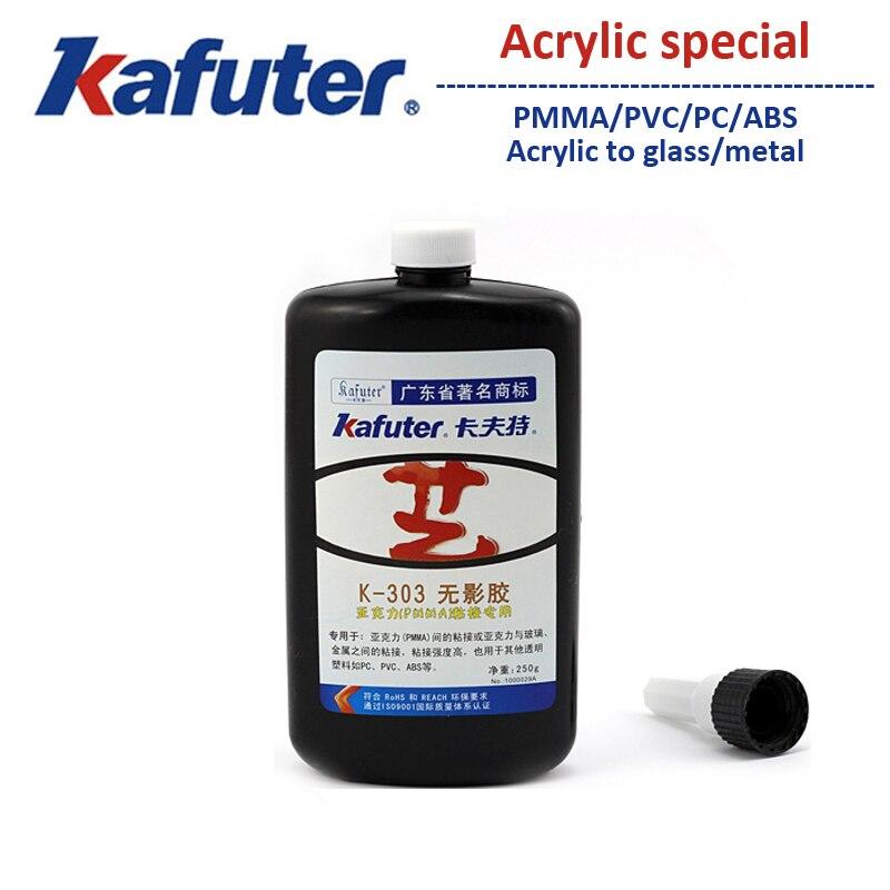 NEW 250g kafuter K-303 uv curing adhesive Acrylic PC PVC ABS Transparent plastic Acrylic adhesive