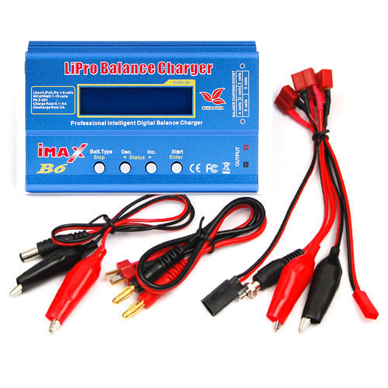 Build-power Battery Lipro Balance Charger iMAX B6 charger Lipro Digital Balance Charger + 12V 6A Power Adapter Charging Cables imax b6 80w lipo battery charger lipro balance charger imax b6 charger balance charger turnigy for rc helicopter 12v 6a adapter