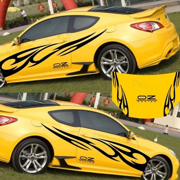 3D Flame Totem Decals Car Stickers Full Body Car Styling Vinyl Decal Sticker Automobile Decoration Strong Adhesive Auto Decals car styling 3d car stickers funny auto ball hits car body window sticker self adhesive baseball tennis decal accessories