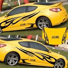 3d chama totem decalques adesivos de carro corpo inteiro estilo do carro vinil decalque adesivo automotivo decoração forte decalques autoadesivos