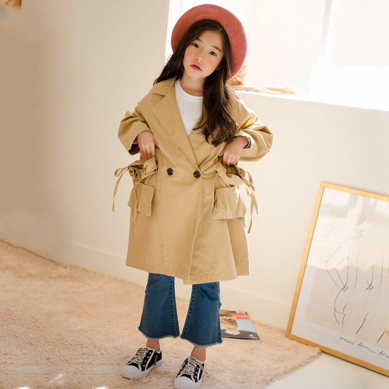 Coupe vent fille vetement enfant dans le grand garçon veste coton matelassé manteau Long enfant