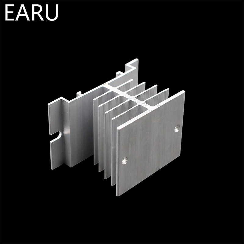 1 pièces nouvelles ailettes en aluminium monophasé relais à semi-conducteurs SSR 10A à 40A en aluminium dissipateur thermique Dissipation radiateur le plus récent montage sur Rail