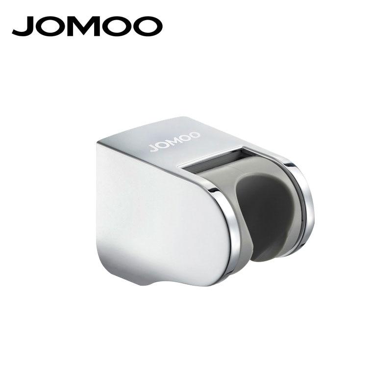 JOMOO Shower Mounting Bracket Adjustable Hand Shower Head Wall Holder Chrome Shower Holder Support Kit Bathroom Accessories 19 25mm chrome shower rail head slider holder adjustable clamp holders bracket bathroom household supplies