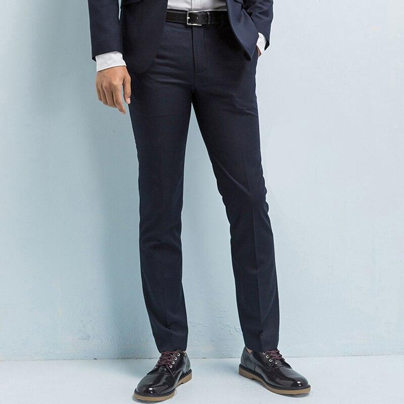 브랜드 의류 남성 정장 바지 능직 캐주얼 비즈니스 남성 바지 슬림 맞는 바지 주름 방지 비즈니스 남성 드레스 바지