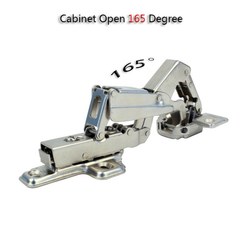 2 PCS A PACK UKE 165 Degree Hydraulic Hinge Soft Closing Door Hinge Safety Damper Buffer For Cabinet Cupboard Furniture