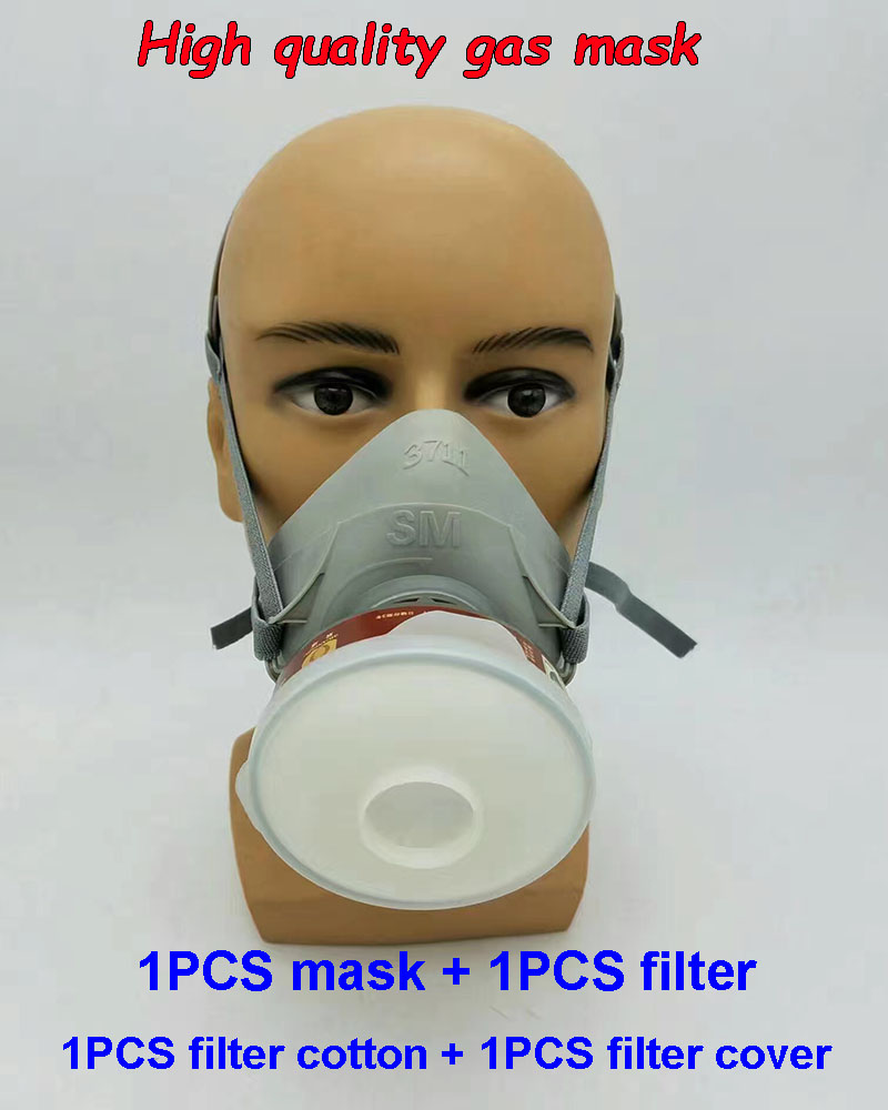 3711 type respirator gas mask Multifunction chemical gas mask paint pesticides smoke industrial safety mask стоимость