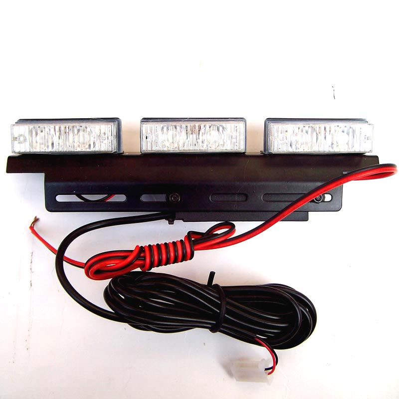FUGSAME FREE SHIPPING Super Bright 6 6 LED Car Strobe Light High Power WHITE in Signal Lamp from Automobiles Motorcycles