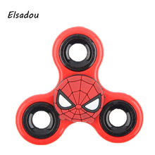 Elsadou Hand Spinner Spiderman Minnie Batman Captain America Iron Man Fidget Toys Finger Spinner
