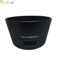 10pcs/lot PH RBB 52mm Camera Lens Hood for PENTAX boron Dal 50 200mm 52 mm PH RBB lens hood baynet lens protector