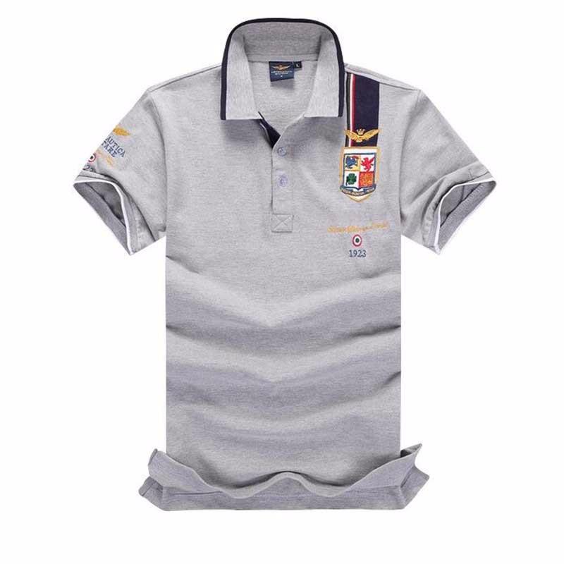 Babykleidung Mädchen 2018 Neue Mode Casual Marke Herren Sommer 100% Baumwolle Kurzarm Armee Air Force One Polo Shirt Männer Hochwertige Männer Kleidung Seien Sie In Geldangelegenheiten Schlau