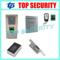 Linux sistema biométrico de huella digital y atención del tiempo y sistema de control de acceso de tarjetas RFID IP65 a prueba de agua de control de la puerta de bloqueo